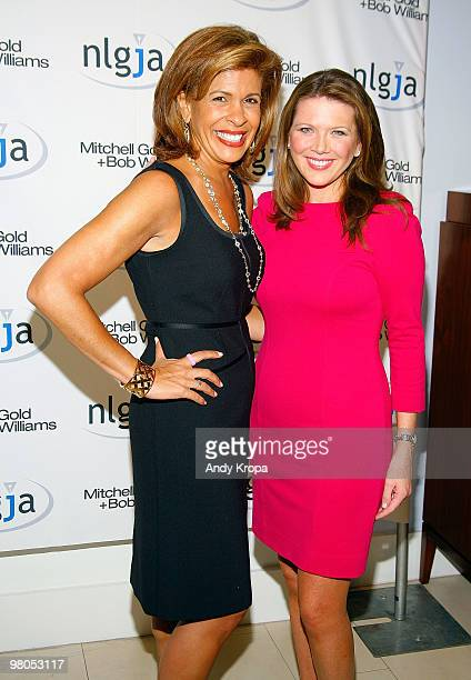 Hoda Kotb and Trish Regan attend the NLGJA's 15th Annual New York Benefit at Mitchell Gold Bob Williams SoHo Store on March 25 2010 in New York City