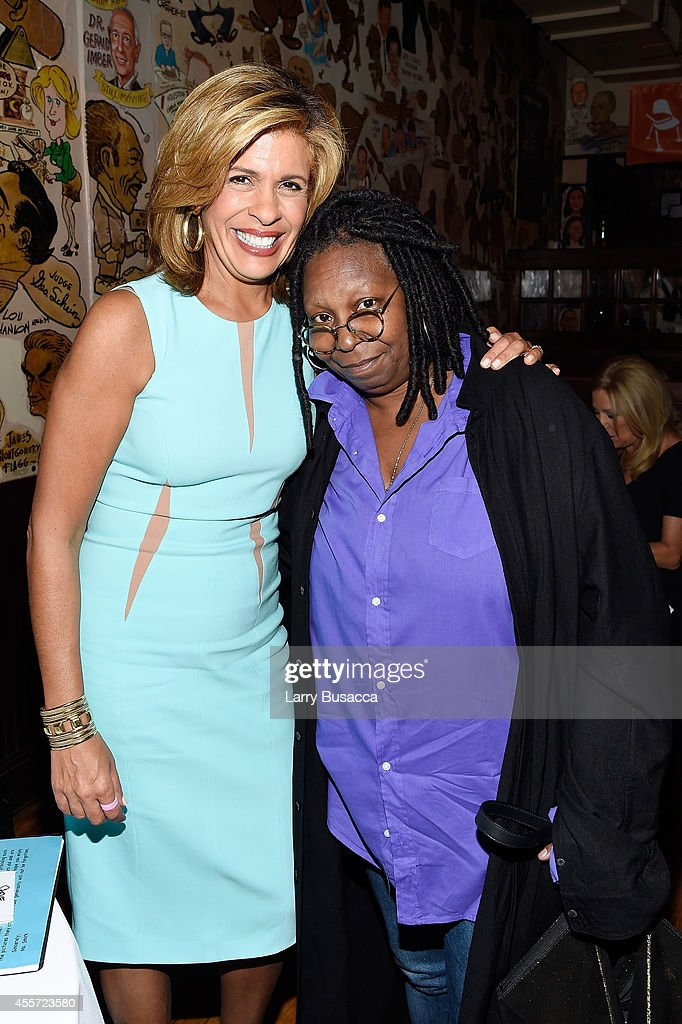 Hoda Kotb (L) and Whoopi Goldberg attend CAA Foundation's School Day event benefiting donorschoose.org at The Palm One on September 18, 2014 in New York City.