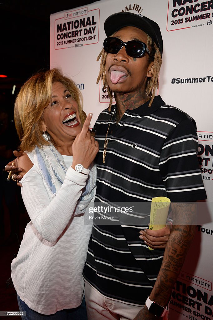 Hoda Kotb and Wiz Khalifa arrive as Live Nation Celebrates National Concert Day At Their 2015 Summer Spotlight Event Presented By Hilton at Irving Plaza on May 5, 2015 in New York City.