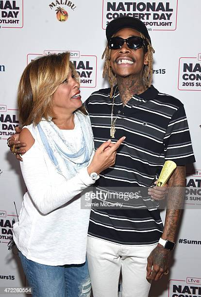 Hoda Kotb and Wiz Khalifa arrive as Live Nation Celebrates National Concert Day At Their 2015 Summer Spotlight Event Presented By Hilton at Irving...