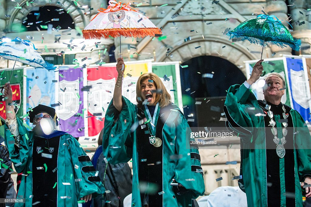 Hoda Kotb C Attends Tulane Universitys Commencement Ceremony At The Mercedes Benz Superdome