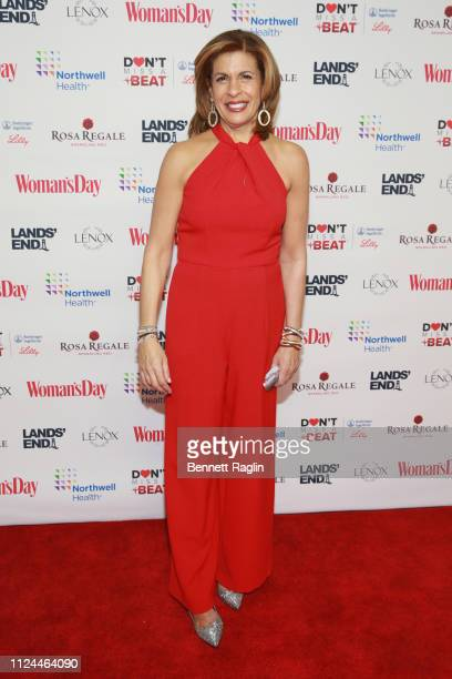 Hoda Kotb attends Woman's Day Celebrates 16th Annual Red Dress Awards on February 12 2019 in New York City