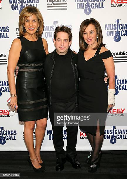 Hoda Kotb, Charlie Walk and Rosanna Scotto attend Musicians On Call Celebrates Its 15th Anniversary Honoring Kelly Clarkson and EVP of Republic...