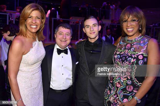 Hoda Kotb Edward Felsenthal Adam Rippon and Gayle King attend the 2018 TIME 100 Gala at Jazz at Lincoln Center on April 24 2018 in New York City