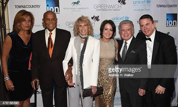 Hoda Kotb, Harry Belafonte, Pamela Belafonte, Wendy Stapleton Reyes, Regis Philbin and Barron Segar attend Greenwich Film Festival 2015 - Changemaker...