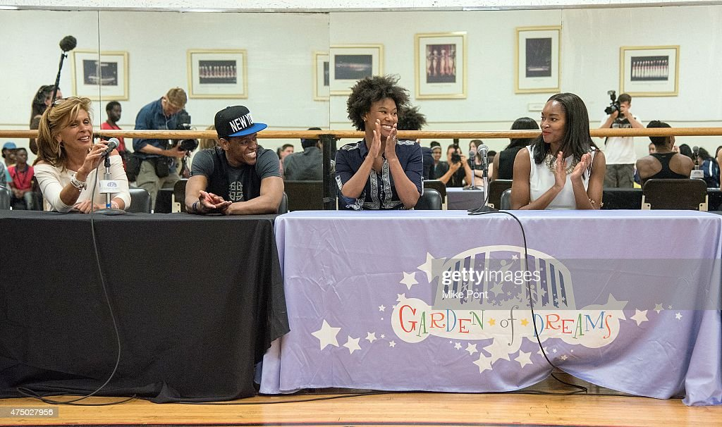 Hoda Kotb, Jared Grimes, Christina Sajous, and Damaris Lewis attend the 2015 Garden of Dreams Talent Show rehearsal at Radio City Music Hall on May 28, 2015 in New York City.
