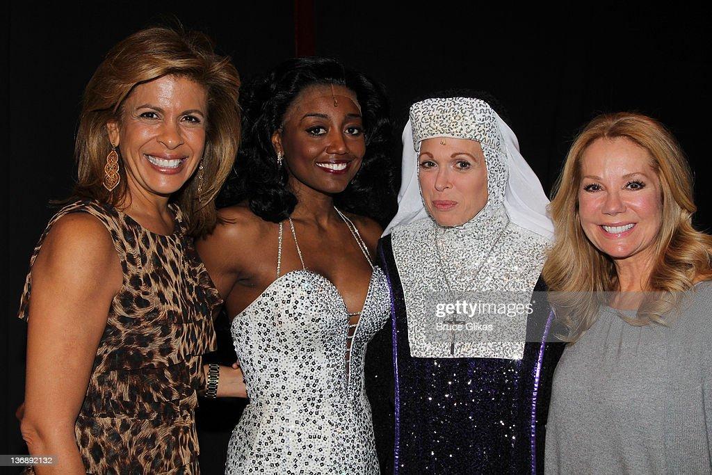 Celebrities Visit Broadway - January 11, 2012