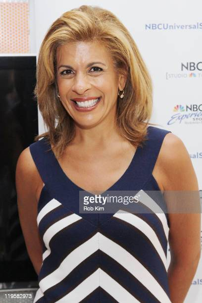 Hoda Kotb promotes her new book Hoda How I Survived War Zones Bad Hair Cancer and Kathie Lee at NBC Experience Store on July 22 2011 in New York City