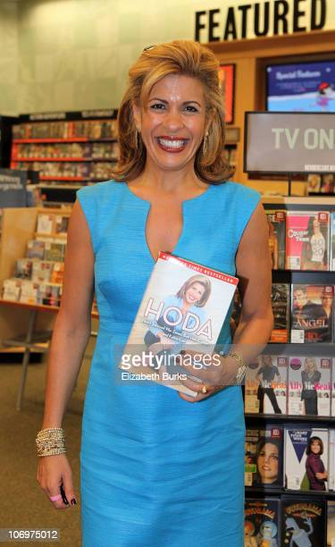 """Hoda Kotb signs copies of her book """"Hoda: How I Survived War Zones, Bad Hair, Cancer, and Kathie Lee"""" at Barnes & Noble on November 19, 2010 in Palm..."""