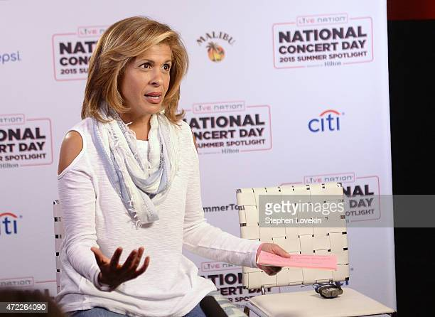 Hoda Kotb speaks as Live Nation Celebrates National Concert Day At Their 2015 Summer Spotlight Event Presented By Hilton at Irving Plaza on May 5...