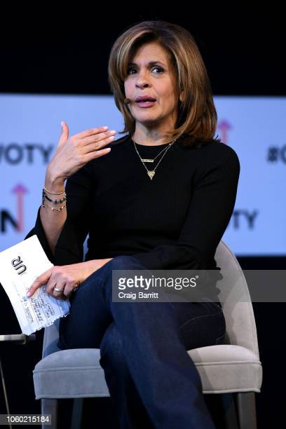 Hoda Kotb speaks onstage during Closing The Dream Gap Showing Girls What's Next panel at 2018 Glamour Women Of The Year Summit Women Rise at Spring...
