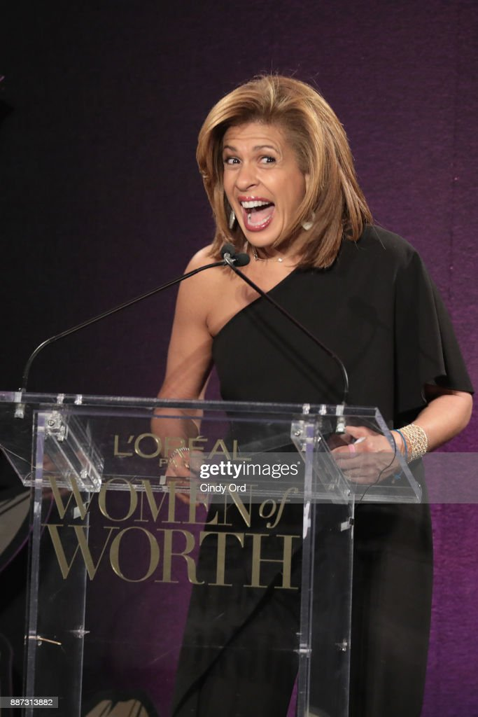 Hoda Kotb speaks onstage during the L'Oreal Paris Women of Worth Celebration 2017 on December 6, 2017 in New York City.