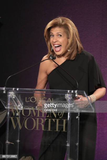 Hoda Kotb speaks onstage during the L'Oreal Paris Women of Worth Celebration 2017 on December 6 2017 in New York City