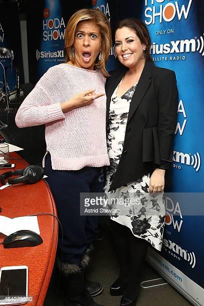 Hoda Kotb talks with Style Editor for NBC's Today Show, Bobbie Thomas during 'The Hoda Show live on SiriusXM's TODAY Show Radio at the SiriusXM...