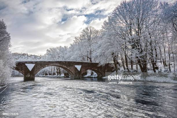 hoddom bridge - galloway scotland stock pictures, royalty-free photos & images