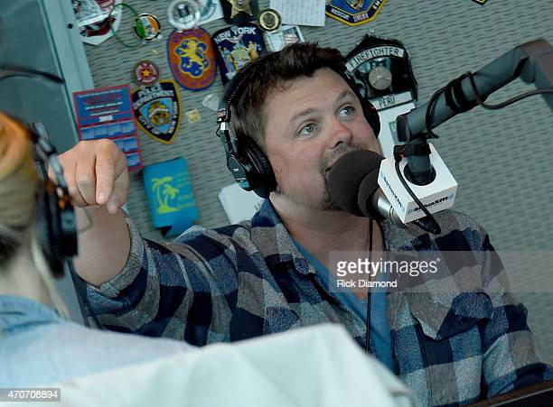 Hodges Visits SiriusXM Nashville on Mornings with Storme Warren on The Highway/SiriusXm Studios April 22 2015 in Nashville Tennessee