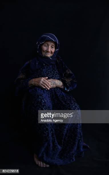 Hodo Gok hosts her relatives who escaped from Tell Abyad district of Syria's Raqqa province due to the 6yearlong ongoing Syrian civil war poses for a...