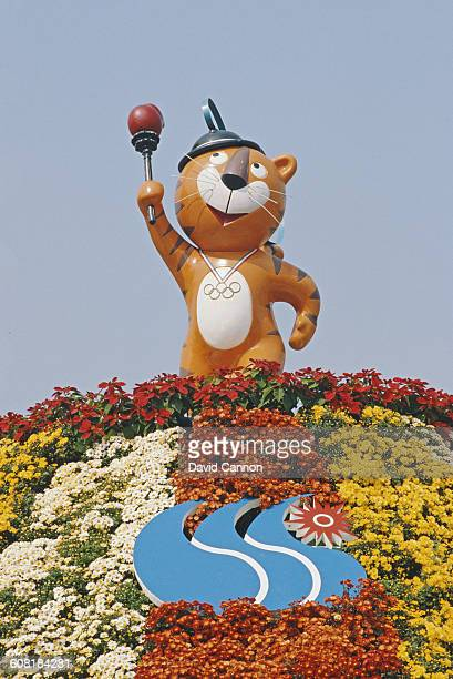 Hodori the Olympic mascot during the Opening Ceremony of the XXIV Summer Olympic Games on 17 September 1988 at the Seoul Olympic Stadium in Seoul...