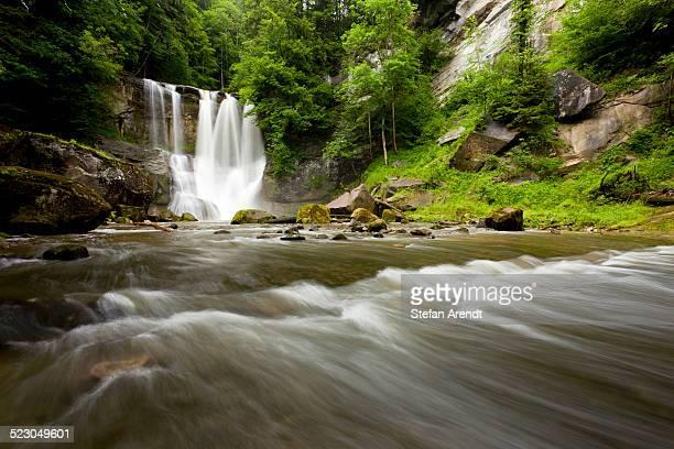 Hoechfall waterfall in the Appenzell region near Teufen, Switzerland, Europe