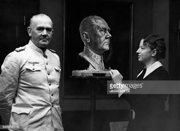 HoefkenHempel Annie Visual Artist Sculptor GermanyD with 'Reichskriegsminister' Field Marshal General Werner Eduard Fritz von Blomberg next to his...