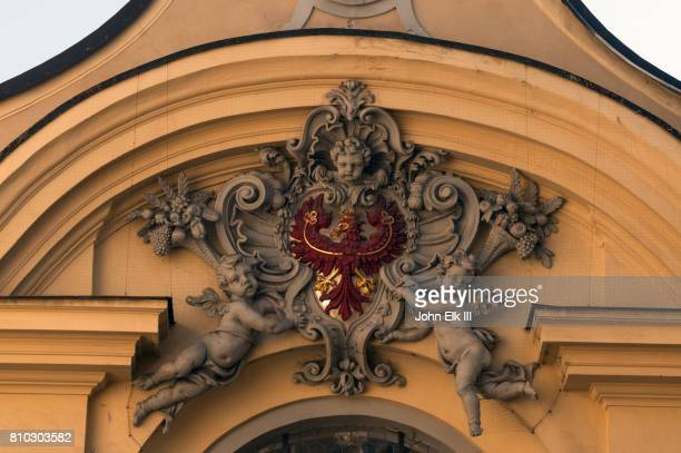 hofburg castle in innsbruck, coat of arms - insignia stock pictures, royalty-free photos & images