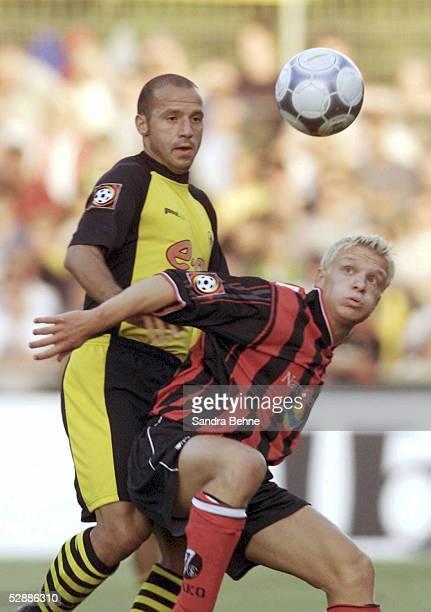 POKAL 2001 Hoffenheim BORUSSIA DORTMUND SC FREIBURG 31 nE Giuseppe REINA/DORTMUND Tboias WILLI/FREIBURG