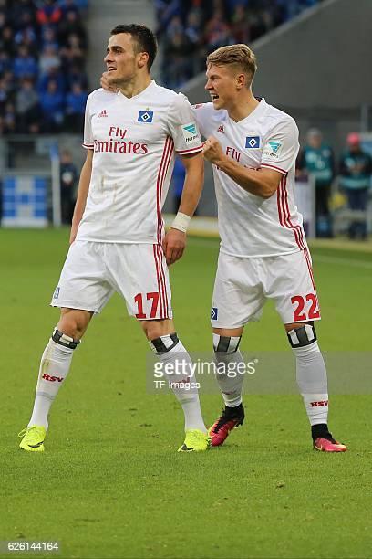Hoffenheim Germany 1 Bundesliga 11 Spieltag TSG 1899 Hoffenheim vs Hamburger SV Wirsol RheinNeckarArena Jubel nach dem 01 bei Matthias Osterzolek und...