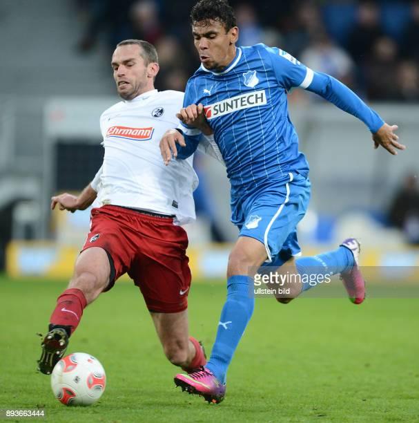 20 Spieltag Saison 2012/2013 FUSSBALL 1 BUNDESLIGA SAISON Hoffenheim SC Freiburg Igor de Camargo gegen Pavel Krmas