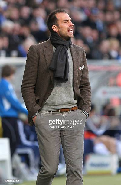 Hoffenheim's coach Markus Babbel reacts during the German first division Bundesliga football match TSG 1899 Hoffenheim vs FC Schalke 04 in Sinsheim...