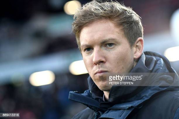 Hoffenheim's German head coach Julian Nagelsmann is pictured prior to the German first division Bundesliga football match between Hanover 96 and TSG...