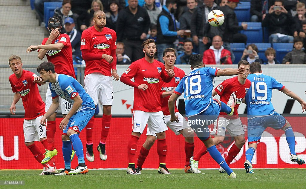 FBL-GER-BUNDESLIGA-HOFFENHEIM-BERLIN : News Photo