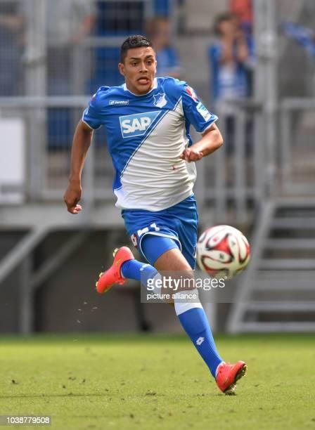 Hoffenheim's Nadiem Amiri in action during the soccer test match between TSG 1899 Hoffenheim and Genoa CFC at RhineNeckarArena in Sinsheim Germany 09...