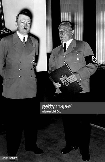 Hoffmann, Heinrich - Photographer, Germany - with Adolf Hitler at the event of his promotion as professor in Munich - 1938 - Photographer:...