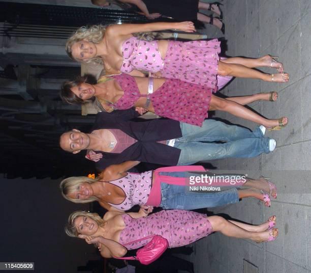 Hofit Golan Alex Best Scott Henshall Jasmine Lennard and Anouska de Georgiou