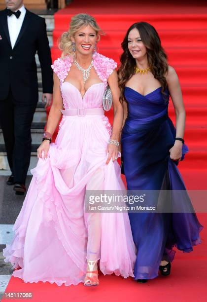 Hofit Golan and actress Rose McGowan attend the 'Nights In Monaco' Gala Fundraiser equally benefiting The Prince Albert II of Monaco Foundation and...