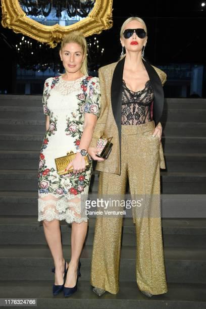 Hofit Golan and Amanda Caroline Cronin attend Dolce & Gabbana - Front Row - Milan Fashion Week Spring/Summer 2020 on September 22, 2019 in Milan,...