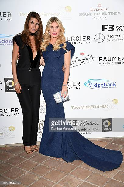 Hofit Golan and Ana Maria Folostina attend 62 Taormina Film Fest Day 4 on June 14 2016 in Taormina Italy