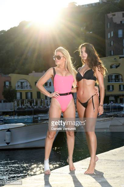 Hofit Golan and Carina Zavline attends 2019 Ischia Global Film Music Fest on July 17 2019 in Ischia Italy