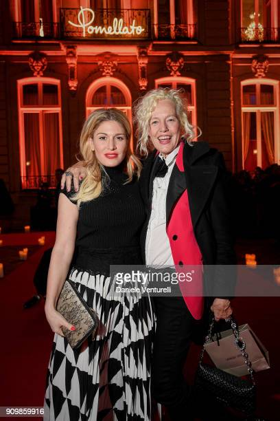 Hofit Golan and Ellen von Unwerth attend the Pomellato after party for the new campaign launch with Chiara Ferragni as part of Paris Fashion Week...