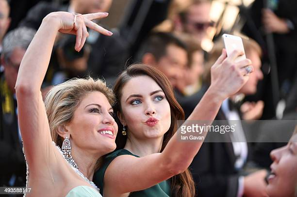 Hofit Golan and Emma Miller attend the Closing Ceremony and 'A Fistful of Dollars' screening during the 67th Annual Cannes Film Festival on May 24...