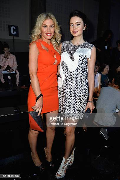 Hofit Golan and Emma Miller attend the Elie Saab show as part of Paris Fashion Week Haute Couture Fall/Winter 20142015 at Pavillon Cambon Capucines...