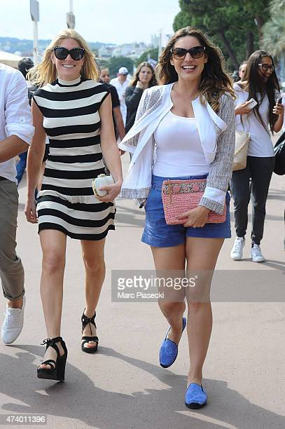 Hofit Golan and Kelly Brook are seen on the Croisette during the 68th annual Cannes Film Festival on May 19 2015 in Cannes France