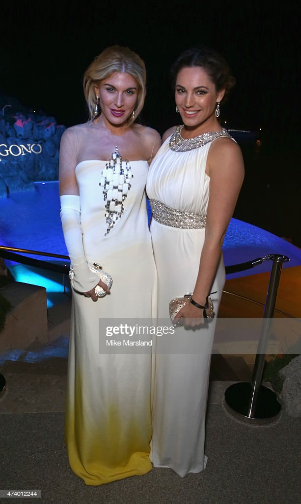 Hofit Golan and Kelly Brook attend the De Grisogono Divine In Cannes Dinner Party at Hotel du Cap-Eden-Roc on May 19, 2015 in Cap d'Antibes, France.
