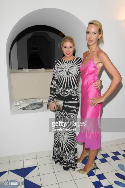 Hofit Golan and Lady Victoria Hervey attend 2018 Ischia Global Film Music Fest on July 18 2018 in Ischia Italy