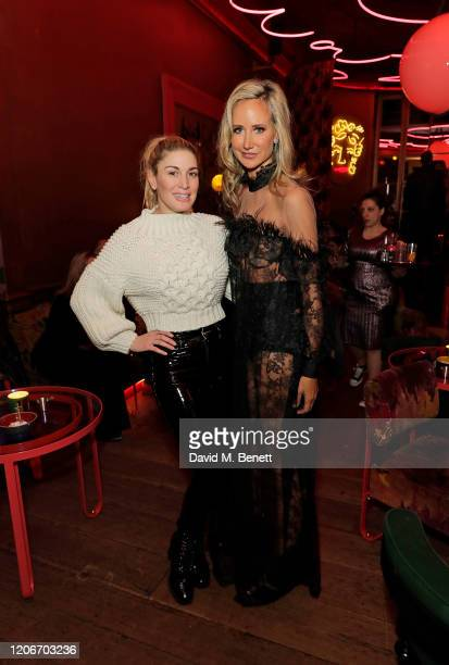 Hofit Golan and Lady Victoria Hervey attend the launch of Lady Victoria Hervey and Scott Henshall's new brand 'Hervey Henshall' during London Fashion...