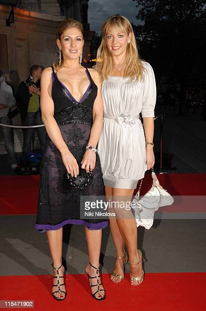 Hofit Golan and Liz Fuller during The Mont Blanc Fine Jewellery Collection Launch at Victoria and Albert Museum in London Great Britain
