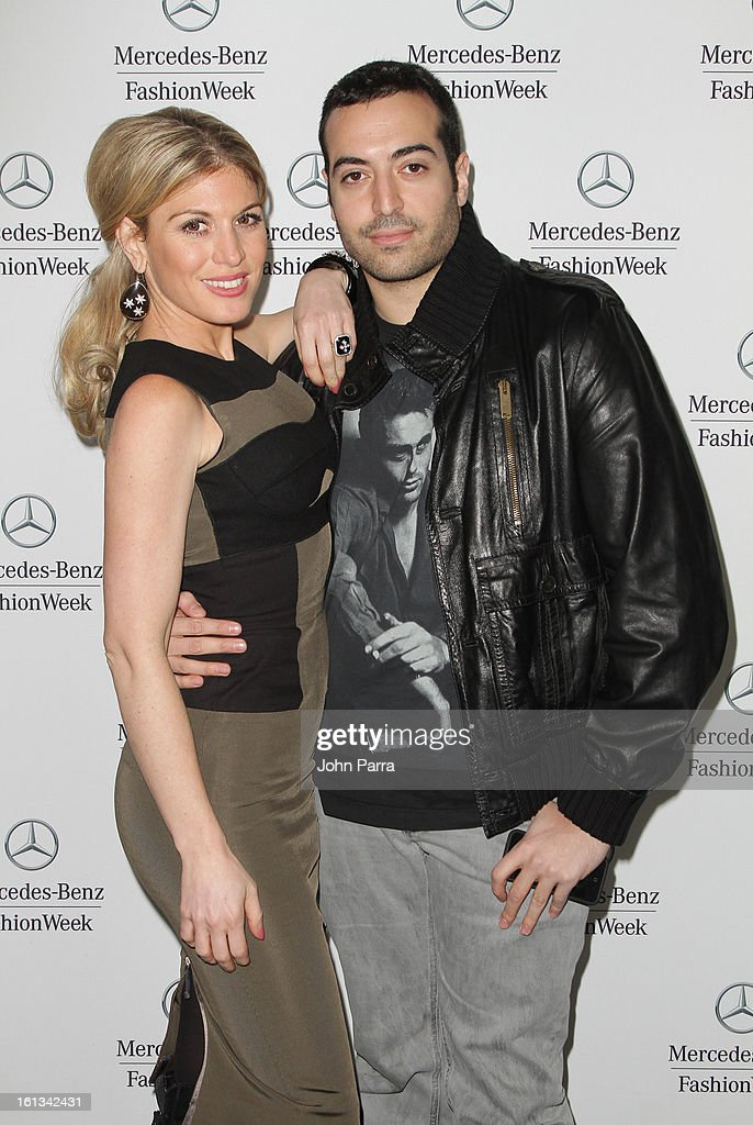 Hofit Golan and Mohammed Al Turki are seen during Fall 2013 Mercedes-Benz Fashion Week at Lincoln Center for the Performing Arts on February 9, 2013 in New York City.