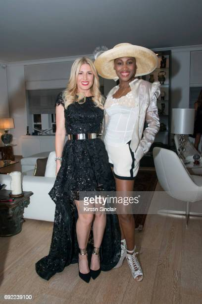 Hofit Golan and Nicole Coste attend Hofit Golan's Birthday celebrations on June 03 2017 in London England