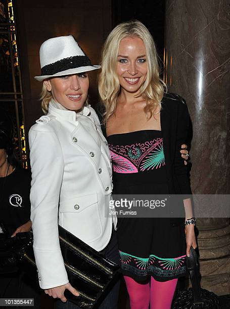 Hofit Golan and Noelle Reno attend the Quintessentially Awards at Freemasons Hall on June 1 2010 in London England