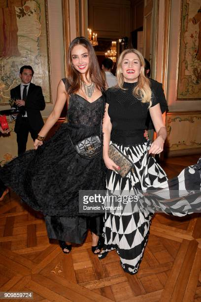 Hofit Golan and Patricia Contreras attend the Pomellato after party for the new campaign launch with Chiara Ferragni as part of Paris Fashion Week...